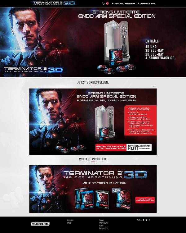 Website for Terminator Project - August 2017 2
