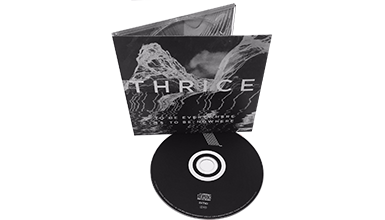 1 x CD in a 4/0 CD digipak (water based gloss or matt) with shrinkwrap.